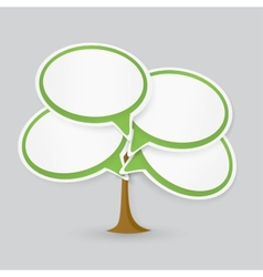 Talking cloud tree vector image