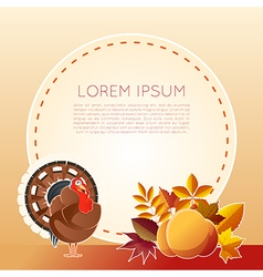 Thankgiving day banner vector
