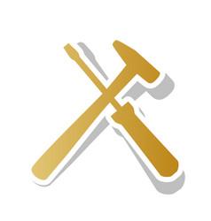 Tools sign golden gradient vector