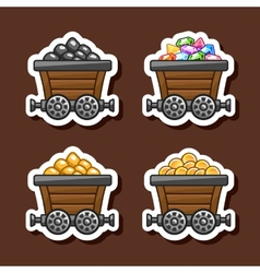 Tub stickers vector image