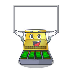 Up board electronic cash register isolated on a vector