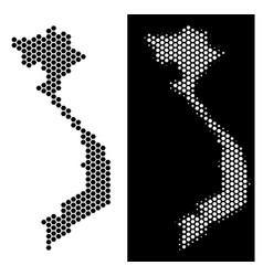 vietnam map hexagon abstraction vector image