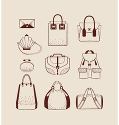 woman bags for day and evening vector image