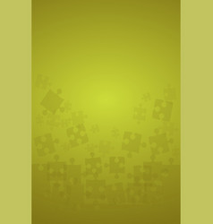 Yellow puzzles pieces - jigsaw vector