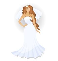 Bride with a veil vector image