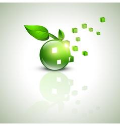 eco green design vector image vector image