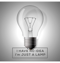 Light bulb with innovation idea concept vector
