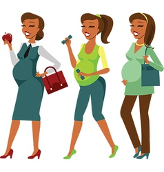 Pregnant woman lifestyle vector image