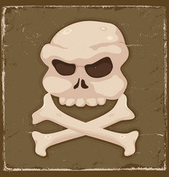 vintage skull and cross bones vector image