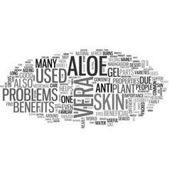 aloe vera juice text word cloud concept vector image