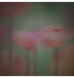 Blurred background of flowers design vector image