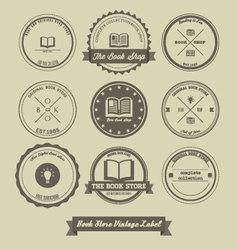Book Store Vintage Label Design vector image