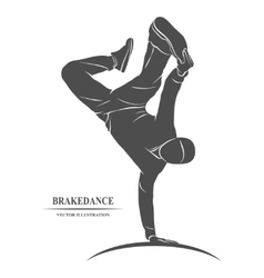 Breakdance silhouette man vector image