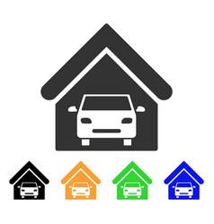 car garage icon vector image vector image