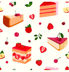 Homemade organic berry pie dessert vector