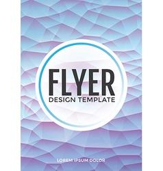 Pastel modern blue polygonal brochure flyer vector