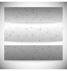 Set of horizontal banners Abstract gray background vector image