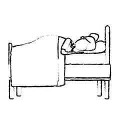 sleeping in bed vector image