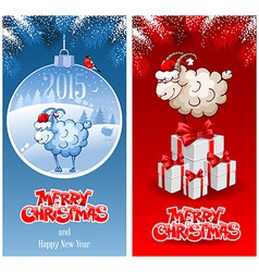 Christmas greeting cards vector image vector image