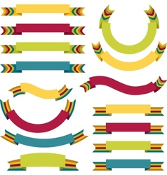ribbons labels set vector image vector image