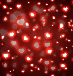 Seamless red valentine background vector