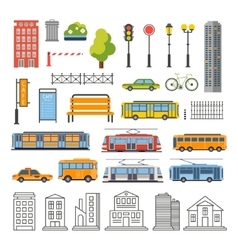 Transportation and City Traffic Infographics vector image vector image