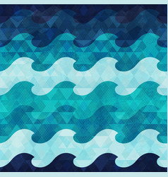 marine seamless pattern with grunge effect vector image vector image