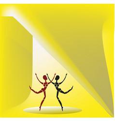 two dancing figures vector image