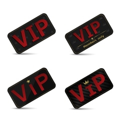 Vip cards vector image vector image
