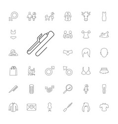 33 female icons vector