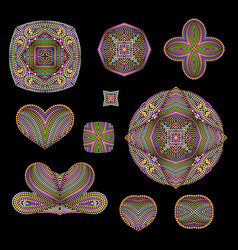 A colorful collection dotted patterns vector