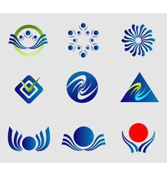 Abstract logo shapes vector image