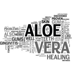 aloe vera products text word cloud concept vector image