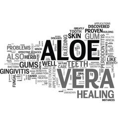 Aloe vera products text word cloud concept vector