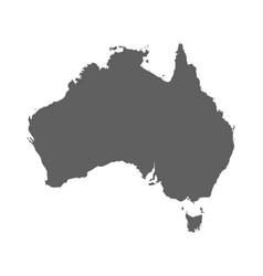 australia map 2 vector image