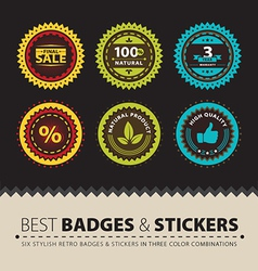 Badges and Stickers vector