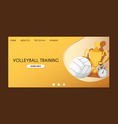 ball landing page volleyball competition vector image