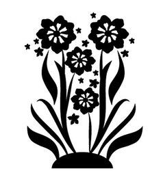 black flowers 2 vector image vector image