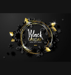 Black friday sale background with beautiful black vector