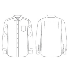 Blank mens shirt vector