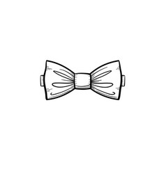 bow tie hand drawn sketch icon vector image