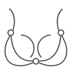 bra thin line icon underwear and woman lingerie vector image
