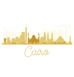 Cairo City skyline golden silhouette vector image