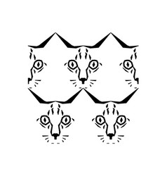 call me cat pattern vector image