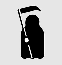 cartoon death with scythe icon vector image