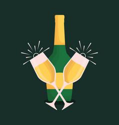 champagne drink design vector image