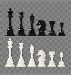 Checkmate pieces on transparent vector