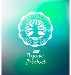 Circle tree logo design template vector