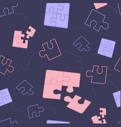 components puzzle on dark background vector image