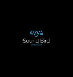 Creative minimalistic sound wave bird logo vector